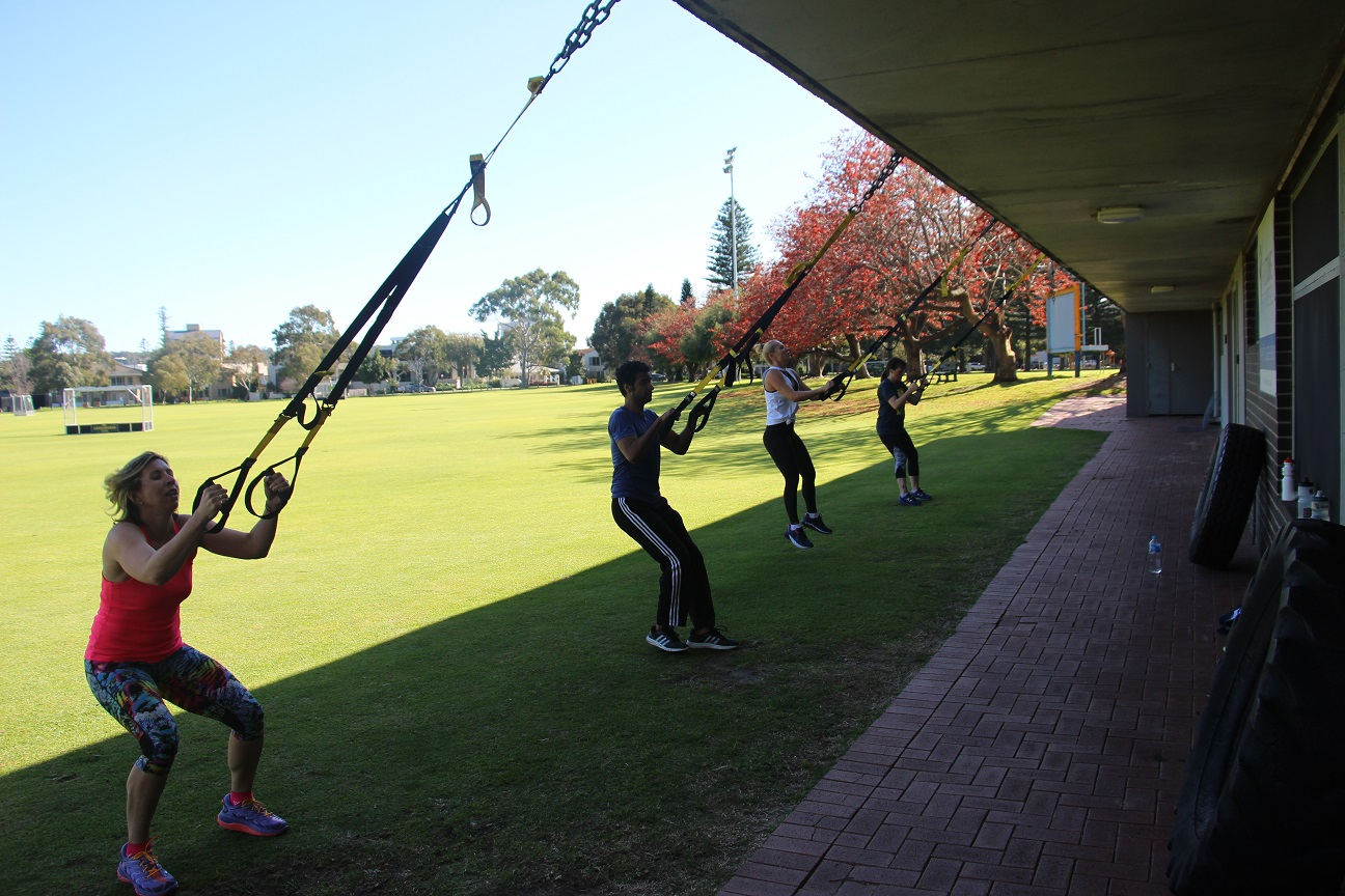 Fine Tune Fitness Gym South Perth - TRX outdoor class