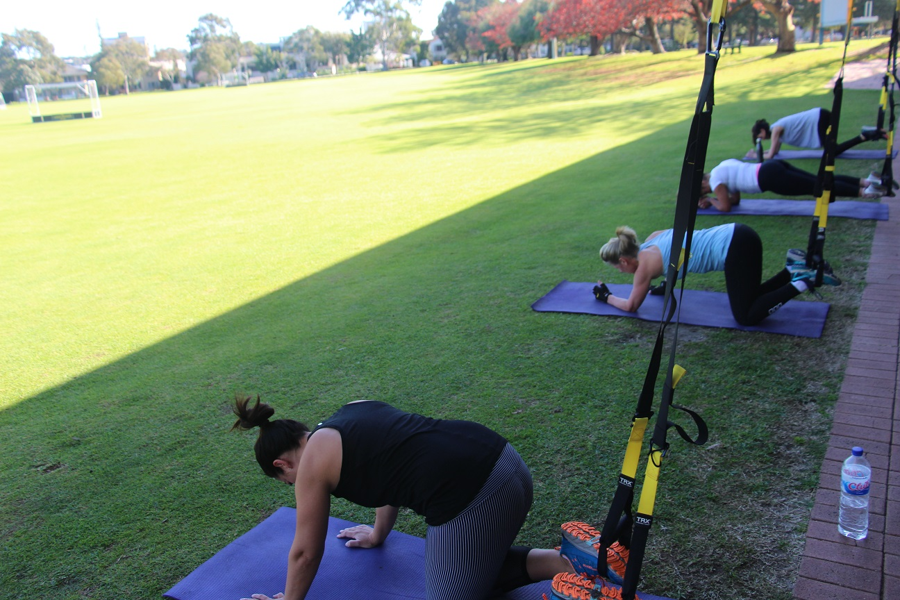 Fine Tune Fitness Gym South Perth - TRX class outside